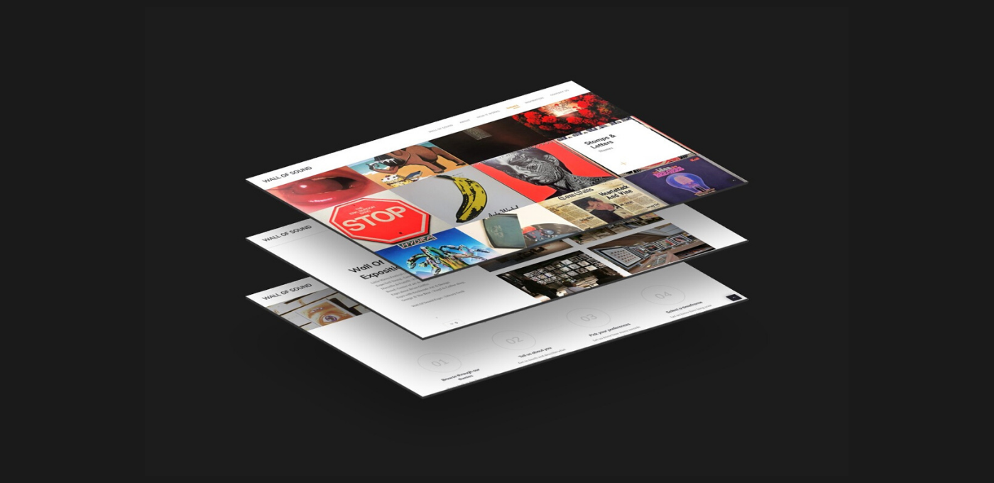wall of sound web pages design